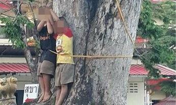 เด็กขโมยเงิน 200 ถูกจับขึงต้นไม้ประจานแล้วตีซ้ำ ชาวเน็ตจวกเกินกว่าเหตุ