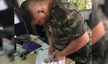 แห่ชื่นชม ทหารทำ CPR ช่วยชีวิตหมาน้อยจมน้ำ