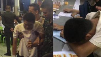 ทหารยังเศร้าตาม หนุ่มปล่อยโฮหลังจับได้ใบแดง กลัวไม่มีใครดูแลยาย