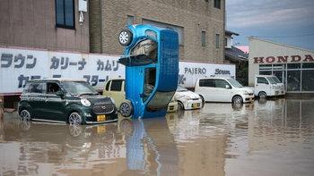 เปิดภาพน้ำท่วมรุนแรงในรอบ 4 ปีของญี่ปุ่น หลายหมู่บ้านยังจมใต้น้ำ