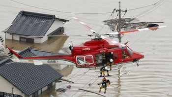พุ่ง 159 ศพ เหยื่อหายนะน้ำท่วมญี่ปุ่น สูญหายอีกกว่าครึ่งร้อย