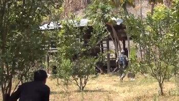 เจ้าหน้าที่บุกป่าลึก-รวบ 2 ผู้ต้องหาซุกยาเสพติด พร้อมยึดไม้เถื่อนรอการจำหน่าย