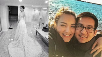"""""""นาตาลี เดวิส"""" กับชุดแต่งงานสุดอลังการ เตรียมวิวาห์แฟนหนุ่มนักการทูต"""