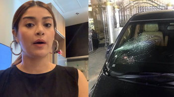 """เมียแจ๊ส ชวนชื่น ยังเสียขวัญบอก """"หนักมากเหตุการณ์นี้"""" เผยภาพเหตุการณ์และรถที่ถูกทุบ"""