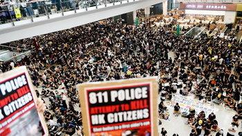 ด่วน! สนามบินฮ่องกงประกาศยกเลิกทุกเที่ยวบิน จากเหตุชุมนุมประท้วง