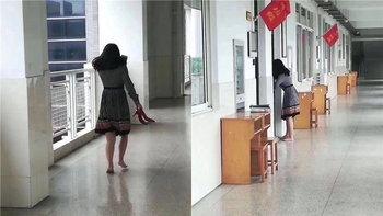 คุณแม่น่ารัก หิ้วส้นสูงเดินเท้าเปล่าขึ้นตึกเรียน 4 ชั้น กลัวเสียงดังรบกวนเด็กๆ