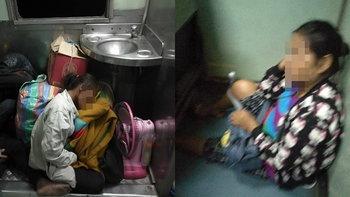 """หนุ่มโพสต์สุดอนาถ ผู้โดยสารรถไฟจำใจนั่งในห้องน้ำ ถามรัฐ """"ใจคอจะไม่ปรับปรุงเลยหรือ"""""""