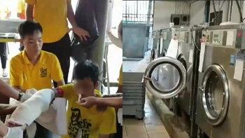 อุทาหรณ์! หนุ่มถูกเครื่องซักผ้าปั่นแขนขาดสยอง ล้วงเข้าไปทั้งที่ถังยังหมุน