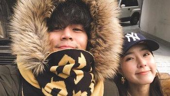 """""""ฮั่น-จียอน"""" ไม่ต้องให้เดา โพสต์ภาพคู่ เที่ยวเกาหลีต้อนรับปีใหม่"""