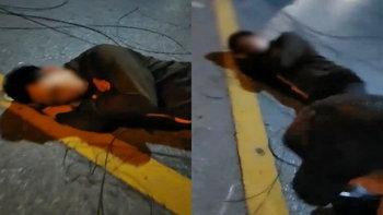 หนุ่มโรงแรมร้องโอด ขี่รถไปทำงานเกือบตาย สายเคเบิ้ลร่วงเกี่ยวร่างเจ็บระบม