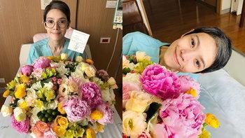 """""""นิ้ง กุลสตรี"""" ขอบคุณ """"เฮียฮ้อ"""" ได้ดอกไม้ที่ชอบที่สุด และคำสั่งสอนตลอด 24 ปี"""