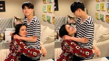 """""""น้องอชิ"""" ตกใจมาก เห็นแม่ """"โบ ชญาดา"""" ร้องไห้ ลูกชายรีบกอดแม่"""