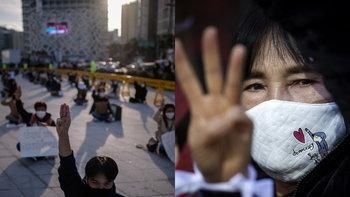 เกาหลี-ญี่ปุ่น ก็มีม็อบ! ชู 3 นิ้ว-ไล่ประยุทธ์ แสดงจุดยืนสนับสนุนม็อบไทย