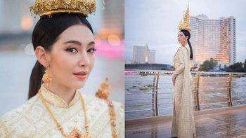 """""""เบลล่า ราณี"""" งดงามสะกดจิต สวยสง่าในชุดไทย แอบอึ้งมูลค่าสูงถึง 20 ล้าน"""