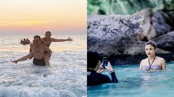 """โฟกัสช็อตนี้เลย """"ชาคริต-แอน"""" ภาพสวีทกลางทะเล น่ารักเหมือนเพิ่งเริ่มจีบกัน"""