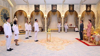 ในหลวง โปรดเกล้าฯ 4 รัฐมนตรีใหม่ เข้าเฝ้าฯ ถวายสัตย์ปฏิญาณ
