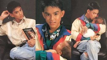 """""""มอส"""" ลงภาพอุ้มเด็กถ่ายแบบครั้งแรกตอนอายุ 16 ตกใจเจอตัวจริงมาคอมเมนต์บอกอายุ 30 แล้ว"""