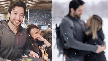 """หิมะกลายเป็นน้ำตาล """"พลอย เฌอมาลย์""""  ย้ำความสวีท ปล่อยภาพกอดหนุ่มรู้ใจสุดหวาน"""
