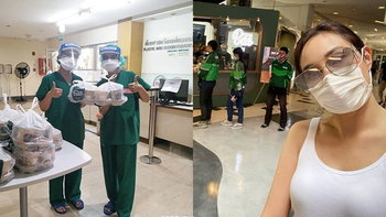 """""""เมย์ พิชญ์นาฏ"""" ให้กำลังใจทีมแพทย์ พยาบาล ที่รักษาโควิด-19 ส่งชานมไปให้กว่า 18 รพ."""