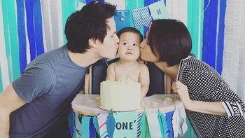ครอบครัวอบอุ่น เอ๊ะ ศศิกานต์ จัดวันเกิดปีแรกให้ลูกชาย
