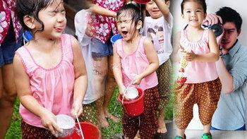 ดูก็รู้ว่าสนุกแค่ไหน น้องมะลิ ใส่ชุดไทยเล่นสงกรานต์กับเพื่อนที่โรงเรียน