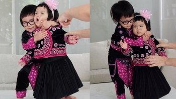 เอ็นดูหนักมาก ออกู๊ด ออเกรซ ในชุดเด็กดอย พี่น้องรักกันจนแม่ปลื้ม