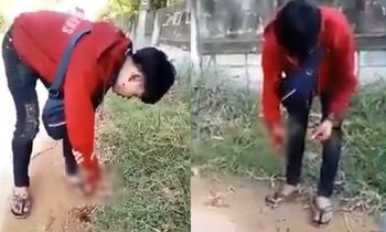 แห่นาคเดือด โจ๋วัย 17 ถือระเบิดตั้งใจปาคู่อริ บึ้มใส่ตัวเองมือขาด