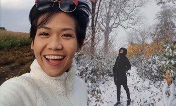 กาละแมร์ ความสุขที่ได้เดินทาง เผยภาพแรกสุดโรแมนติกหิมะแรกในฮอกไกโด