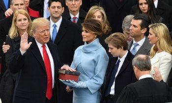โดนัลด์ ทรัมป์ เข้าพิธีสาบานตนเป็นประธานาธิบดีสหรัฐฯ