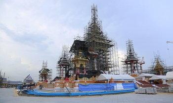ภาพความคืบหน้า การก่อสร้างพระเมรุมาศ ในหลวง ร.9