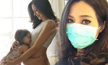 """""""ลิซ่า อลิซาเบธ"""" สุดห่วง อุ้มท้องใกล้คลอด แต่มาป่วย H1N1"""