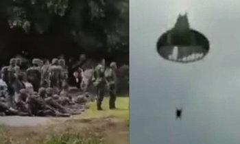 ไขความจริง! ครูฝึกทหารห้ามดึงร่ม หลังร่มจริงขาดกลางอากาศ