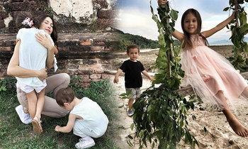 น่ารักมาก ครอบครัว พอลล่า เลี้ยงลูกใกล้ชิดธรรมชาติ