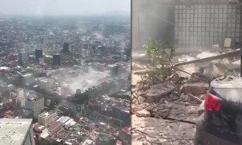แผ่นดินไหว 7.1 เขย่าเมืองหลวงเม็กซิโก แชร์ภาพตึกโยกไหว