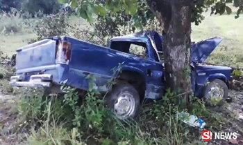 บึ่งรถซื้อเค้กวันเกิดฉลองให้ลูก เสียหลักชนต้นไม้ หวิดดับยกครัว