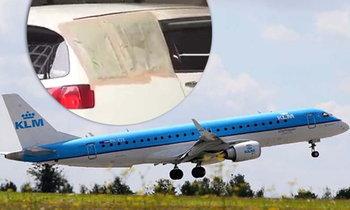 สายการบิน KLM ขอโทษ ชิ้นส่วนปีกเครื่องบินตกใส่รถที่ญี่ปุ่น