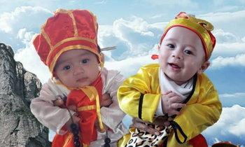 คุณแม่สายฮา ชมพู่ อารยา โพสต์รูปวันเด็ก จับลูกแฝดแต่งชุดไซอิ๋ว