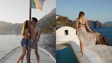 """""""เพลง ชนม์ทิดา"""" ควงแฟนเที่ยวกรีซ ทริปนี้ทั้งหวานทั้งแซ่บมาก"""