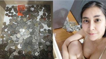 """""""ใหม่ สุคนธวา"""" เก็บเล็กผสมน้อย สะสมเหรียญที่สามีทำตก รวมเป็นเงินก้อนใหญ่ให้ลูก"""