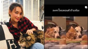 """""""บี น้ำทิพย์"""" โพสต์อินสตาแกรมสตอรี่สุดฮา ซีนคุ้นเคยในละครไทยตอนตัวร้ายท้อง"""