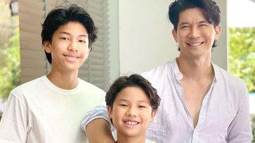 """ราวกับแฝด """"เคน-คุณ-จุน"""" สามคนพ่อลูก หล่อ-เซอร์-น่ารัก สาวๆ ใจบางไปเลย"""