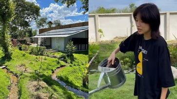 """""""โทนี่-แก้ว"""" เปิดสวนผัก ทำปุ๋ยไร้สารเคมี หลงใหลกับการใช้ชีวิตแบบบ้านๆ แล้ว"""
