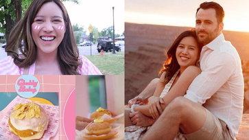 """ชีวิตในอเมริกา """"หญิง พลอยชมพู"""" หลังวิวาห์แฟนฝรั่ง เปิดธุรกิจร้านขนม น่ารักดีต่อใจมาก"""