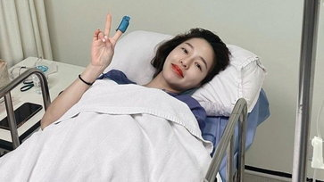 """""""แอร์ ภัณฑิลา"""" โพสต์ภาพนอนแอดมิทที่โรงพยาบาล แฟนๆแห่ส่งกำลังใจให้"""