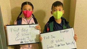 """""""นานา"""" ส่งลูกเข้าเรียนที่นิวยอร์กวันแรก หลายคนสงสัยไปอยู่ถาวรแล้วหรือเปล่า"""