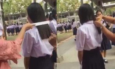 โรงเรียนดังกาญจนบุรี แจงคลิปตัดผมนักเรียนหญิง ตัดคะแนนเด็กโพสต์คลิป