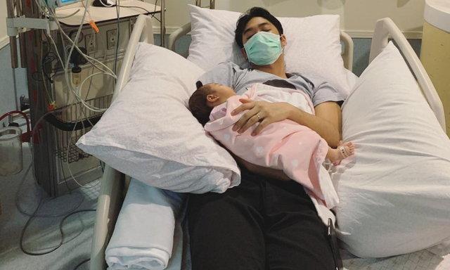 'เนม เก็ตสึโนวา'น้ำตาร่วง ลูกสาววัย 1 เดือนเข้าไอซียู