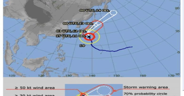 พายุไต้ฝุ่นถล่มญี่ปุ่น! สถานทูตไทยในโตเกียว เตือนภัยฮากิบิส 12-13 ต.ค.นี้