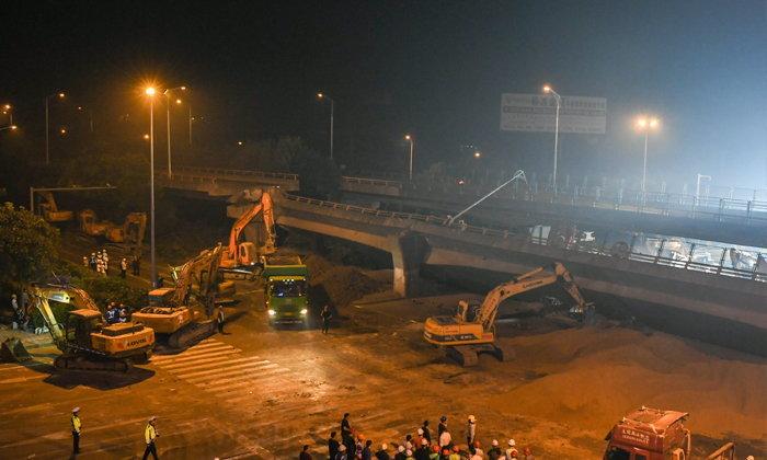 จีนสลด! สะพานยกระดับถล่มในเมืองอู๋ซี ดับ 3 เจ็บ 2