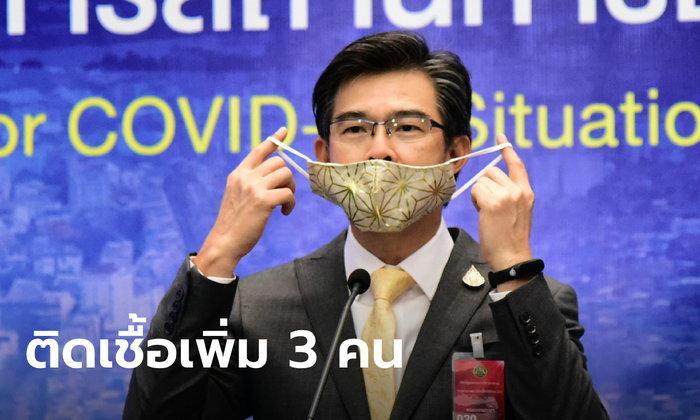 วันนี้ไทยติดเชื้อโควิด-19 เพิ่ม 3 คน รวมสะสม 3,037 ยังไม่มีผู้เสียชีวิตเพิ่ม คงที่ 56 ราย